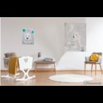 tableau enfant bébé ours polaire gris nuage chambre décoration beige 2