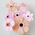 lampe de chevet enfant bébé fille vase fleurs rose pastel beige blanc cadeau baptème décoration chambre
