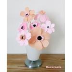 lampe de chevet enfant bébé fille vase fleurs rose pastel beige blanc cadeau baptème décoration