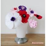 lampe de chevet enfant bébé fille vase fleurs rose pastel beige violet prune cadeau baptème decoration