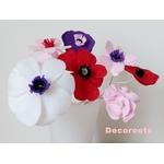 lampe de chevet enfant bébé fille vase fleurs rose pastel beige violet prune cadeau baptème decoration zoom