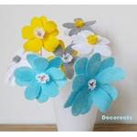 lampe chevet enfant bébé mixte garçon fille fleurs kawaï jaune bleu gris blanc décoration