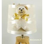 lampe de chevet enfant bebe ours beige mixte bois chambre