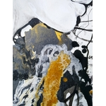 tableau art contemporain design noir et blanc or zoom 2