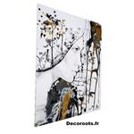 tableau art contemporain design femme noir etblanc or decoration 2