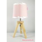 lampe de chevet fille licorne rose blanc étoile