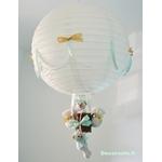lampe montgolfière beige vert menthe