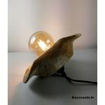 lampe design nature teck zen bois fleur luminaire