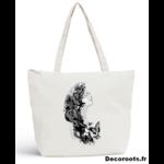 sac plage sweet paradise noir et blanc