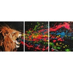 tableau-triptyque-listen-me-lion-rugissement-multicolore-decoration