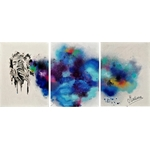 tableau-design-contemporain-dust-femme-nir-et-blanc-visage-multicolore-decoration
