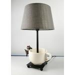 lampe de chevet design chat tasse beige taupe 3