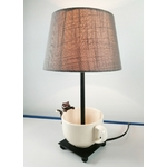 lampe de chevet design chat tasse beige taupe 5