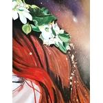 tableau art contemporain visage femme espace papillon