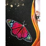tableau art contemporain visage femme espace papillon 2