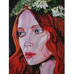 tableau art contemporain visage femme espace papillon 3