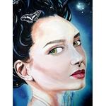 tableau art contemporain femme espace papillon portrait