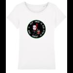 tee shirt femme geisha blanc poisson koï art peintre artiste