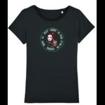 tee shirt femme geisha noir poisson koï art peintre artiste