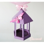 lampe enfant bébé fille rose parme violet papillon décoration lustre
