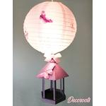 lampe enfant bébé fille rose parme violet papillon décoration lustre suspension