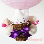 lampe montgolfière enfant bébé fille étoile papillon rose parme fuschia
