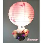 lampe montgolfière enfant bébé fille étoile papillon rose parme fuschia 2