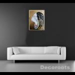 tableau art contemporain guerrière massaï décoration salon