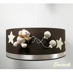 suspension enfant bébé ours beige taupe marron décoration