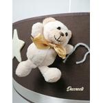 suspension enfant bébé ours beige taupe marron garçon