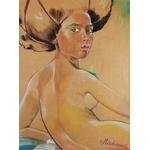 Dessin art femme africaine afrique nue pop