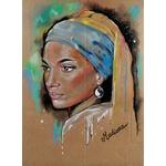 dessin art contemporain femme noire afrique espace univers