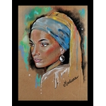 dessin art contemporain femme noire afrique espace univers cadre déco