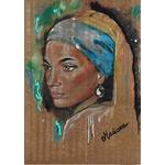impression art carton femme du monde africaine veermer