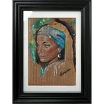 impression art carton femme du monde africaine veermer cadre décoration
