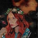 impression art carton leffet papillon espace univers étoile femme peinture
