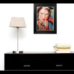 dessin art contemporain portrait femme multicolore hope espoir