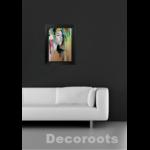 dessin art contemporain portrait femme multicolore 2