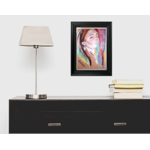 dessin art contemporain femme multicolore cadre décoration