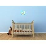 tableau enfant bébé ours sur la lune bleu vitrine