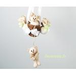 lampe montgolfière enfant bébé beige vert eau mixte décoration ours