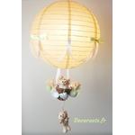 lampe montgolfière enfant bébé beige vert eau mixte décoration 2