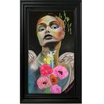 dessin art contemporain ange fleurs nature street multicolore cadre SITE