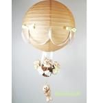 lampe montgolfière enfant bébé beige vert eau mixte décoration