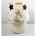 lampe-chevet-enfant-bebe-ours-beige-chocolat-blanc