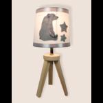 lampe de chevet enfant bébé ours polaire mixte blanc gris garçon fille