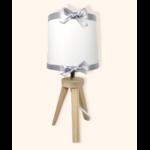lampe de chevet enfant bébé ours polaire mixte blanc gris ruban