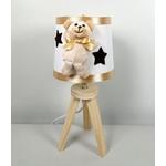 lampe de chevet enfant bébé ours mixte blanc beige chocolat noisette garçon fille