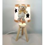 lampe de chevet enfant bébé ours mixte blanc beige chocolat noisette