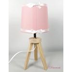 lampe-chevet-enfant-bebe-ours-fille-beige-rose-vieux-blanc-cadeau-naissance-artisanale 3